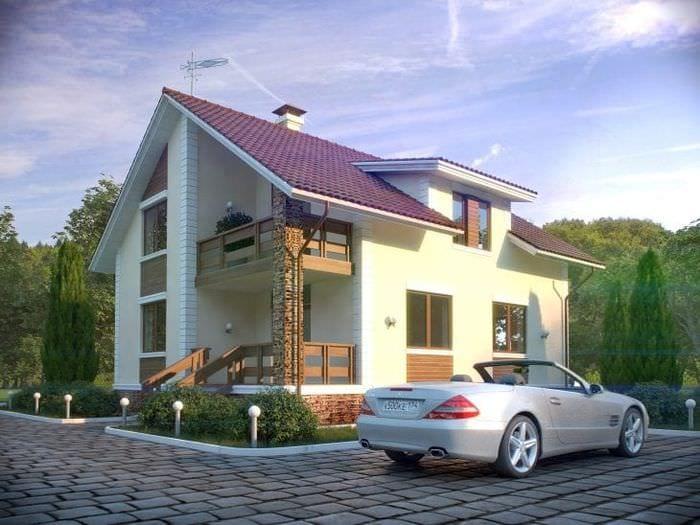 яркий стиль загородного дома в архитектурном стиле