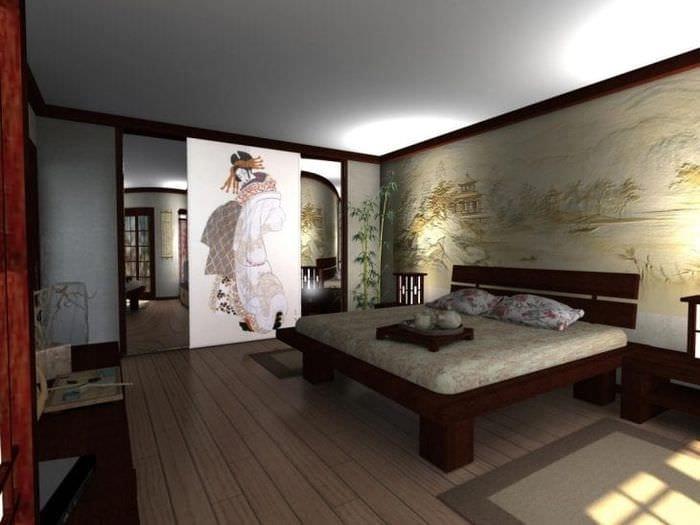 красивый декор коридора в японском стиле