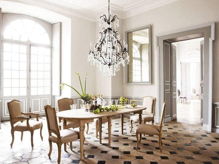 красивый интерьер квартиры в французском стиле
