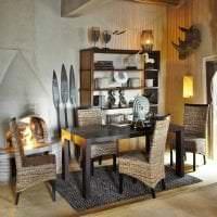 необычный интерьер кухни в африканском стиле фото