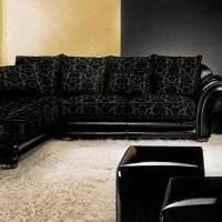 изысканный стиль коридора в черном цвете фото