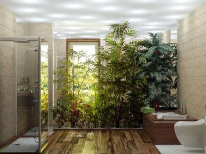 яркий эко интерьер комнаты