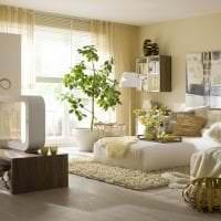 светлый эко стиль комнаты картинка