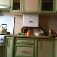 яркий дизайн бежевой кухни в стиле прованс фото