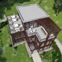 красивый декор загородного дома в архитектурном стиле фото