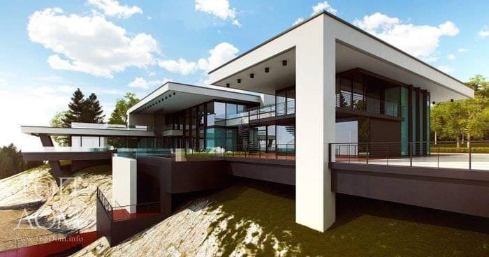красивый интерьер дома в архитектурном стиле