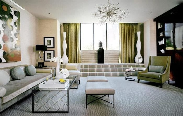 светлый дизайн дома в стиле деко арт