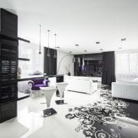 красивый интерьер квартиры в стиле деко арт картинка