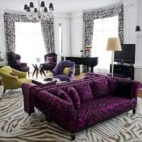 необычный декор спальни в цвете фуксия фото