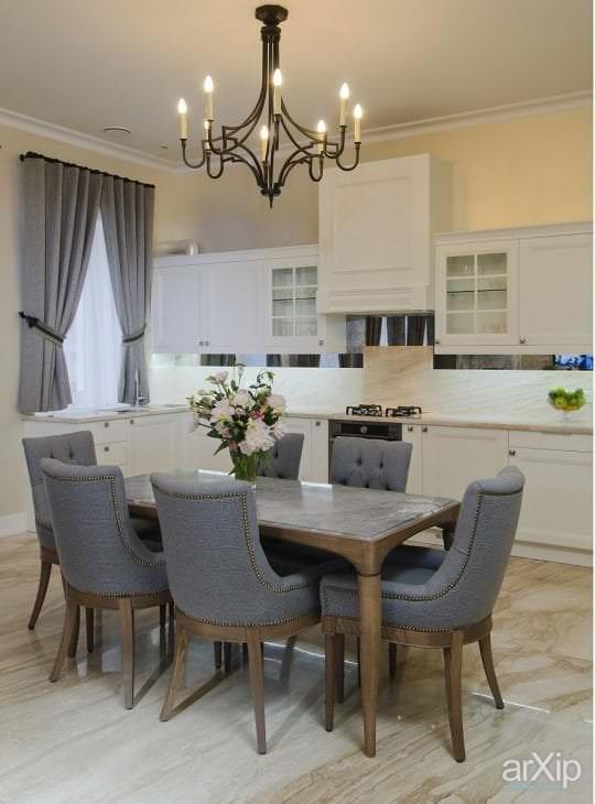 светлый стиль дома в американском стиле
