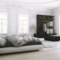 яркий дизайн кухни в белом цвете фото