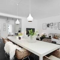 светлый дизайн квартиры в белых тонах картинка