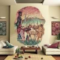 светлый стиль квартиры в африканском стиле картинка