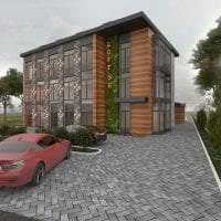 красивый декор загородного дома в архитектурном стиле картинка
