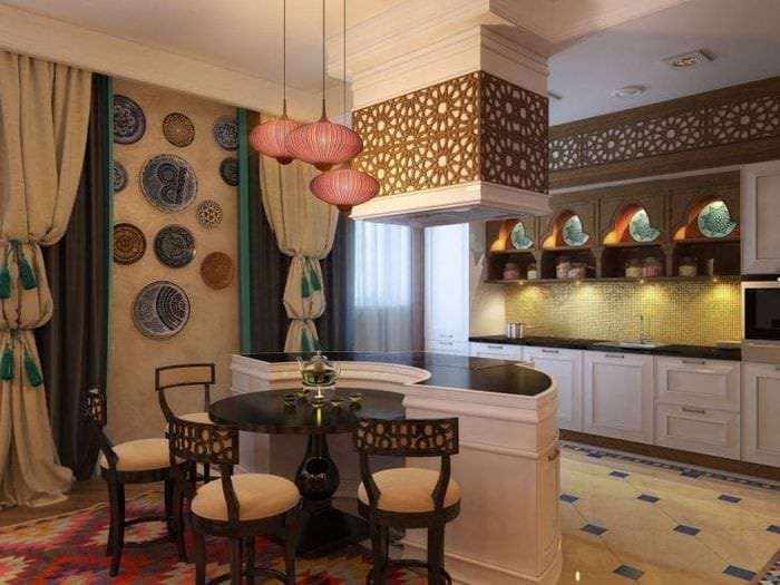 светлый стиль квартиры в этническом стиле