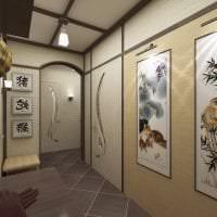 светлый интерьере коридора в японском стиле картинка