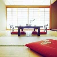яркий дизайн спальни в японском стиле картинка