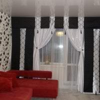 красивый шелковый тюль в интерьере комнаты фото