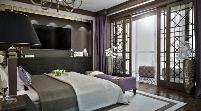 светлый интерьер комнаты в стиле деко арт