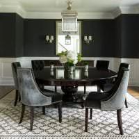 красивый дизайн кухни в черном цвете фото