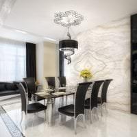шикарный декор прихожей в черно белом цвете фото