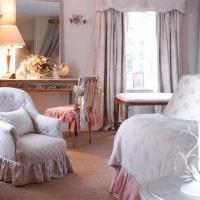 красивый интерьер спальни в стиле шебби шик картинка