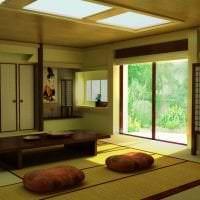 красивый дизайн спальни в японском стиле фото
