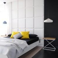 красивый интерьер коридора в черно белом цвете фото