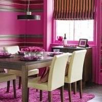 красивый интерьер коридора в цвете фуксия картинка