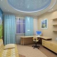 светлый интерьер спальни в различных цветах картинка