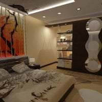 яркий дизайн коридора в японском стиле фото
