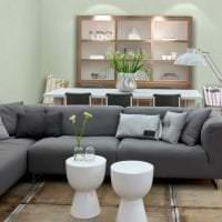 красивый угловой диван в стиле гостиной фото