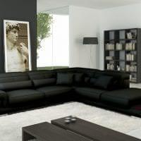 красивый угловой диван в интерьере коридора фото