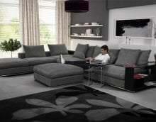 светлый угловой диван в стиле квартиры фото
