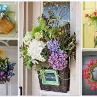 яркий весенний декор в интерьере коридора фото