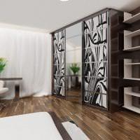 встроенный шкаф в дизайне спальни картинка