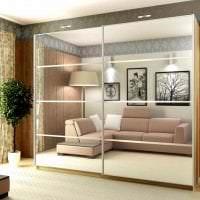 встроенный шкаф в стиле спальни картинка