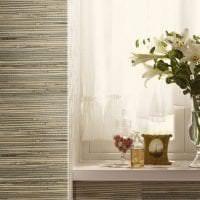 жалюзи с бамбуком в интерьере спальни картинка
