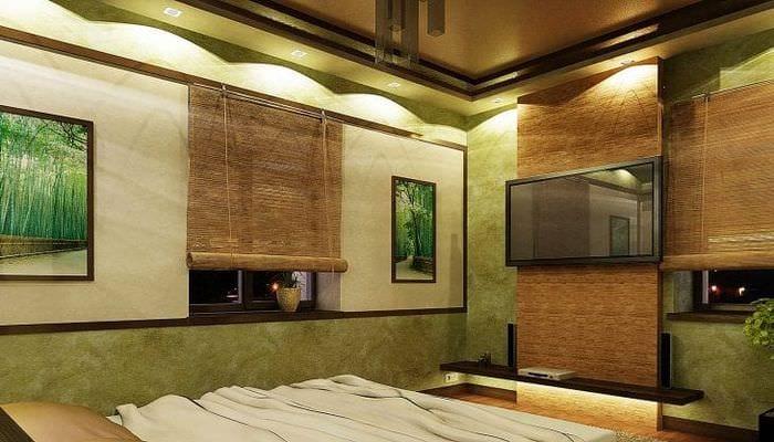 дизайн с природным камнем фото и бамбуком опытных