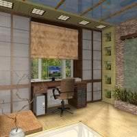 паркет с бамбуком в дизайне кухни картинка