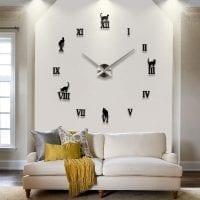 пластиковые часы в кухне в стиле минимализм картинка