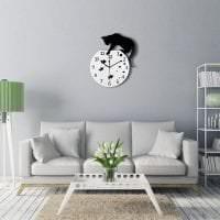 пластиковые часы в кухне в стиле кантри фото