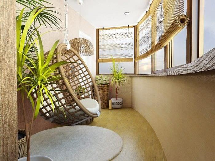 красивый эко дизайн комнаты