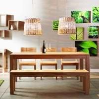 светлый эко дизайн комнаты картинка