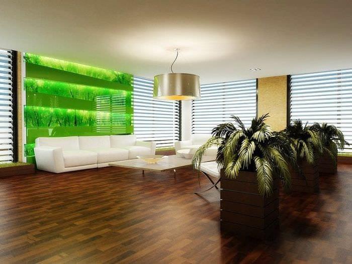 насыщенный эко стиль комнаты