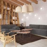 светлый эко дизайн кухни фото