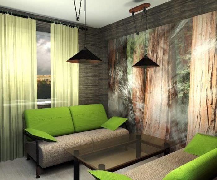 красивый эко стиль комнаты