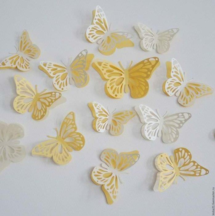 красивые бабочки в интерьере детской