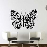 красивые бабочки в декоре спальни фото