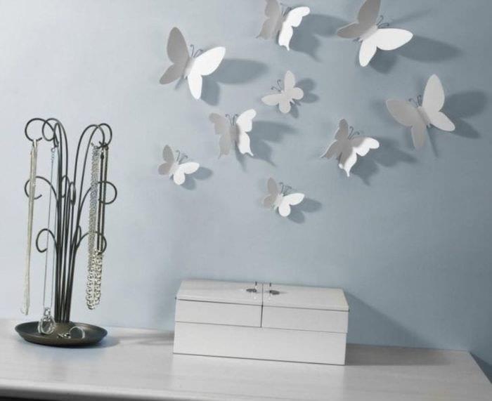 красивые бабочки в дизайне спальни